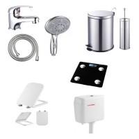 Υδραυλικά-Μπάνιο σπιράλ λουτρού τηλέφωνα ντουζ διακόπτες μπαταρίες