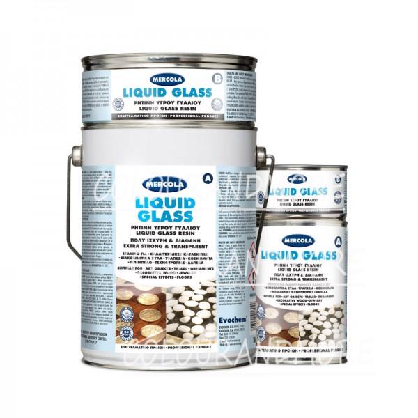 Βερνικια Πετρας - Βερνικια Πατωματος - Βερνικια Ξυλου - LIQUID GLASS Υγρή ρητίνη κατασκευών